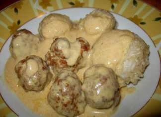 Ćufte od kobasice sa prelivom od senfa i pirinčem