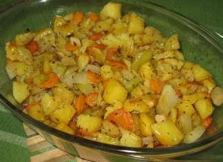 Jednostavan ručak pečeno povrće