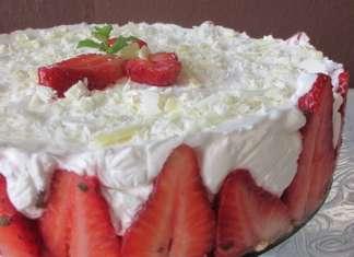 Mint torta s jagodama