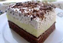 Trobojna krem torta