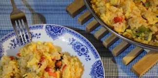 Prženi pirinač sa povrćem i jajima na brzaka