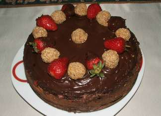 Rustična čokoladna torta