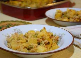 Krompir sa mlevenim mesom graškom i jabukama