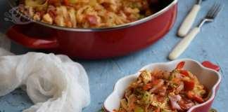 Brze taljatele sa prženim jajima i raznim povrćem